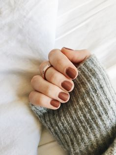 Bronzey brown nail color
