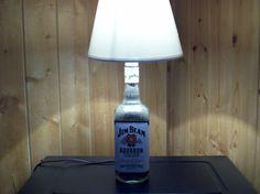 Jim Beam Bourbon Bottle Lamp