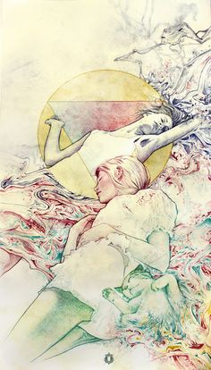 Oriol Angrill Jordà    (b.1986, Spain/UK) - Blended dreamers. Colored graphitte, 60x32cm (2011) / Heuristic n.3. Graphitte, 76x56cm (2011)(source:http://www.oriolangrill.blogspot.com/)
