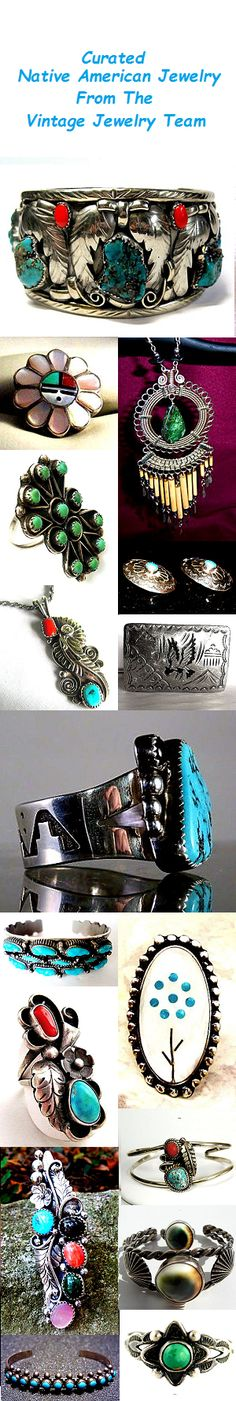 Curated Native American Jewelry from the Etsy   Vintage Jewelry Team #etsyvjt