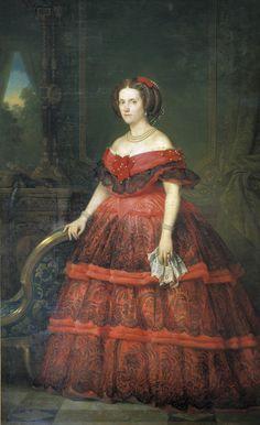 SAR LA INFANTA DE ESPAÑA DOÑA ISABELA FERNANDINA DE BORBÓN Y BORBÓN DOS SICILIAS, CONDESA GUROWSKI | Hija del infante Don Francisco de Paula (y sobrina) y de Luisa Carlota de Borbón Dos Sicilias, era prima carnal de la reina Isabel II por partida doble  y su cuñada, ya que era hermana del rey consorte, también del malogrado infante Enrique, duque de Sevilla. En definitiva, la nieta de cuatro reyes, para algunos, nieta de dos reinas, un rey y un ministro.  La infant...
