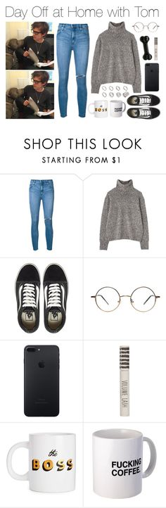 """""""Day Off at Home with Tom"""" by lola-styleson ❤ liked on Polyvore featuring Nobody Denim, ASOS, Margaret Howell, Vans and Topshop"""