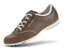 Duca Del Cosma Ladies Mila Golf Shoe in chocolate Golf Fashion, Fashion 2020, Womens Fashion, Golf Player, Womens Golf Shoes, Team Uniforms, Golf Outfit, Ladies Golf, Sock Shoes