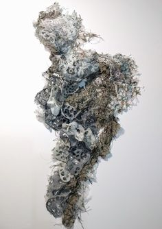 'Fragment 2' marianjazmik.co.uk Textile Fiber Art, Textile Artists, A Level Textiles, Growth And Decay, Acrylic Pouring Art, A Level Art, Fabric Manipulation, Fabric Art, Art Projects