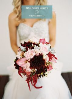 20 FAVORITE WEDDING BOUQUETS on Style Me Pretty! See them all right here: http://www.StyleMePretty.com/2014/02/07/our-top-20-favorite-bouquets/ Photography by Stewart Leishman | Bouquet by Art Stems on Lygon
