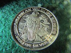 1992 HISTORIC COLORADO MINING BALD EAGLE .999 SILVER COIN 20 GR. RARE!
