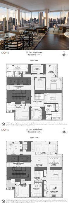 hotel floor plan Live below Rupert Murdoch - hotel Hotel Floor Plan, Luxury Floor Plans, Luxury Penthouse, Luxury Apartments, Penthouse London, Luxury Homes, Apartment Floor Plans, Floor Plan Layout, Home Building Design