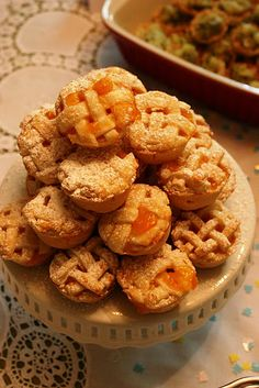 """Mini Georgia Peach Pies--Could be really cute for a """"Georgia on My Mind"""" themed dessert table!"""