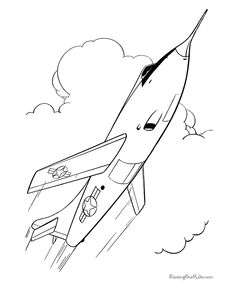 air force coloring pages