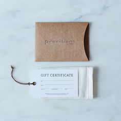 Gift Cards on Provisions by Food52
