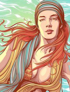 Vector Portrait illustrations by Sao Paulo, Brazil based designer Cristiano Siqueira