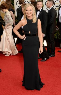 Amy Poehler in Stella McCartney at the Golden Globes