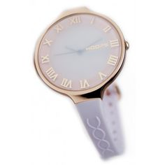 Hoops watch with roman numerals and rose gold surround