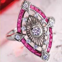 Art deco ring. Follow Renaissance Fine Jewelry or see us at www.vermontjewel.com. We sell the complete Pandora Jewelry Collection.