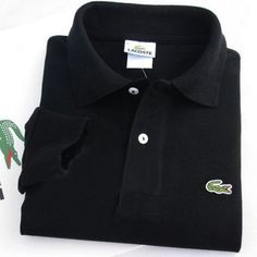 Lacoste Polo Long Sleeve Classic Shirt Black    #CheapLacoste #CheapLacosteLongSleeve #Polos #LacostePolos #LacostePoloShirts #StylishLacosteShirts #LacosteForCheap