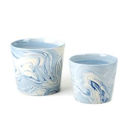 Twos Company 2 Piece Terre Melee Containers Decorative Bowl Set Color: Blue