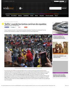 """""""Selfie"""": cuando los tontos caminan de espaldas, página 1. Publicado en la web de Wish Magazine, ahora inactiva."""