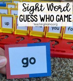 Preschool Sight Words, Teaching Sight Words, Sight Word Practice, Sight Word Games, Preschool Prep, Kindergarten Sight Words List, Preschool Projects, Preschool Learning, Teaching Math