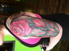 Roses n sunflowers!!! Awesome tattoo for sure!!