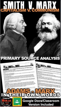 Adam Smith vs Karl Marx Primary Source Activity teaches students about the two competing economic theories that rocked the mid … History Lesson Plans, World History Lessons, History Education, Social Studies Classroom, History Classroom, Teaching Social Studies, Psychology Graduate Programs, Colleges For Psychology, Teaching American History