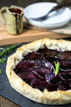 Keepin It Kind: Virtual Vegan Potluck: Balsamic Roasted Beet & Rosemary Cashew Cheese Phyllo Tart