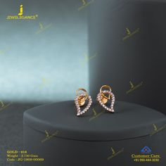 Get in touch with us on 990 444 3030 Gold Jhumka Earrings, Jewelry Design Earrings, Gold Earrings Designs, Ear Jewelry, Small Earrings, Stud Earrings, Lockets, Gold Studs, Ponytail