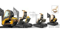 During CONEXPO 2014, Volvo CE revealed its latest concept design machine, the GaiaX compact excavator.