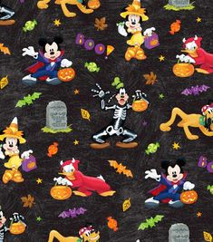 Disney Mickey and Friends Halloween Fun by Springs Creative fabric Disney Halloween, Halloween Doodle, Halloween Images, Fall Halloween, Cute Fall Wallpaper, Halloween Wallpaper Iphone, Cute Disney Wallpaper, Halloween Backgrounds, Colorful Wallpaper
