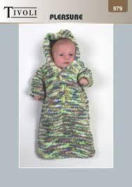 Image result for baby sleeping bag free knitting pattern