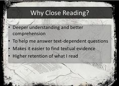 Close Reading from teacher1stop.com on TeachersNotebook.com -  (13 pages)  - Classroom ready PowerPoint presentation for Close Reading