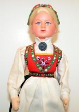 Ronnaug Petterssen doll from Norway all original