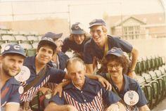 "Waiting to work in 1978 Marc Perper, David Schenker, ""Rose"" Ken Dolin Back:  Wayne Fisher & Mike Klass"