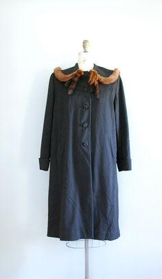1930s wool/mink coat