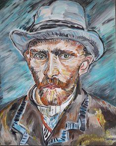 van Gogh, portraitpaintings, paintings, faces, figurative, acrylicpainting Portrait Paintings, Van Gogh, Figurative, Faces, Art, Art Background, Kunst, The Face, Performing Arts