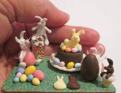 Easter Miniatures  ivanigrande.blogspot.com.br https://www.etsy.com/pt/shop/MiniaturaBrasileira