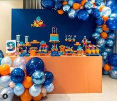 Festa dragon ball z e dragon ball super - mais de 50 ideias ball birthday p Goku Birthday, Nerf Birthday Party, Nerf Party, Ball Birthday Parties, Dragon Birthday, Birthday Party Decorations, Party Props, Hot Wheels Birthday, Hot Wheels Party
