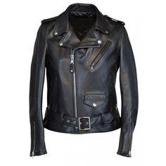 Ladies  Biker Black Leather Jacket With Belt On Bottom