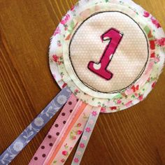 1st Girls Birthday Rosette by MilkyDashels on Etsy, £8.50