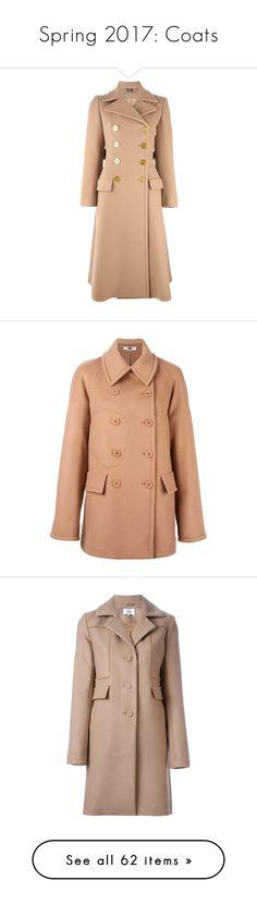 """Spring 2017: Coats"" by lorika-borika on Polyvore featuring outerwear, coats, brown, alexander mcqueen, alexander mcqueen coat, belted coat, brown double breasted coat, long sleeve coat, peacoat coat и pea coat"