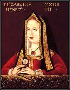 Elizabeth of York-1466-1503. Daughter of Edward IV. and Elizabeth Woodville, Queen Consort of Henry VII.