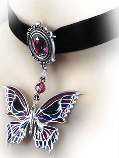 nice Death's Head Butterfly Choker by Alchemy Gothic | Gothic