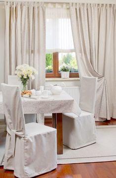 Jedáleň - v naturálnej štylizácii    #jedalen#natur#zavesy#obrus#prestieranie Curtains, Home Decor, Blinds, Decoration Home, Room Decor, Draping, Home Interior Design, Picture Window Treatments, Home Decoration