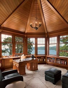 Pacific Northwest Residence - interior design by John Gilmer Architect Inc Floor Layout, New England Style, Teak Table, Famous Architects, Architect Design, Architectural Digest, Craftsman Style, Home Interior Design, Modern Furniture