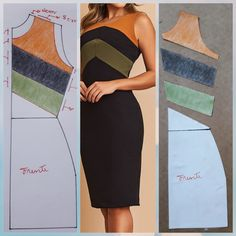 Ideas For Sewing Dress Dressmaking Fashion Sewing, Diy Fashion, Fashion Dresses, Moda Fashion, Dress Sewing Patterns, Clothing Patterns, Costura Fashion, Diy Clothes, Clothes For Women