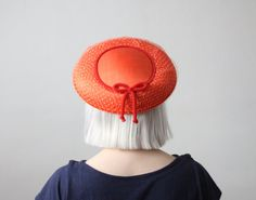1950s coral saucer hat by 1919vintage on Etsy