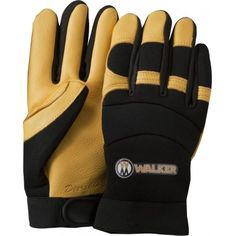 Custom Imprinted Promotional Premium Leather and Spandex Work Gloves Leather Work Gloves, Cowhide Leather, Cotton Canvas, Spandex