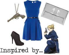 """Lieutenant Riza Hawkeye"" by musicalgeek on Polyvore"
