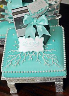 Tiffany Blue & White gift tray III