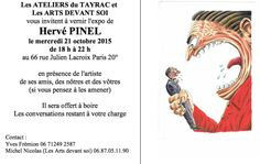 Hervé Pinel - Vernissage octobre 2015