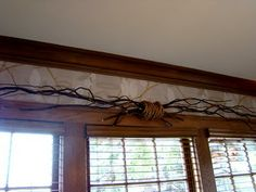 window treatments for rustic home   ... Bachman's Spring Ideas House- Part Three- The Living Room, Sunroom